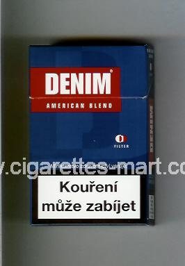 Denim (design 1) (American Blend) ( hard box cigarettes )