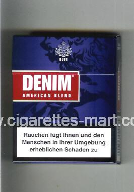 Denim (design 1A) (American Blend / Blue) ( hard box cigarettes )