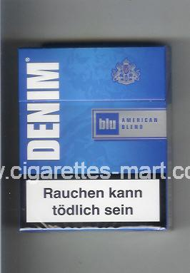 Denim (design 2) (Blu / American Blend) ( hard box cigarettes )
