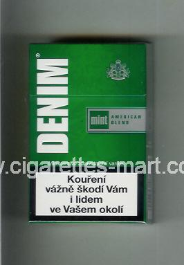 Denim (design 2) (Mint / American Blend) ( hard box cigarettes )