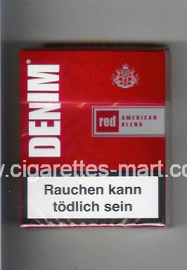 Denim (design 2) (Red / American Blend) ( hard box cigarettes )