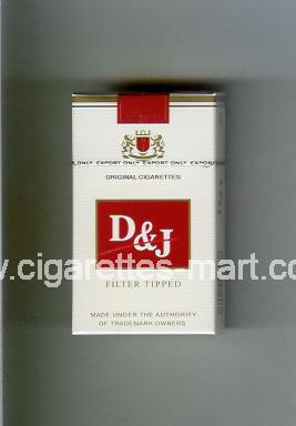 D&J (design 1) (Filter Tipped) ( hard box cigarettes )