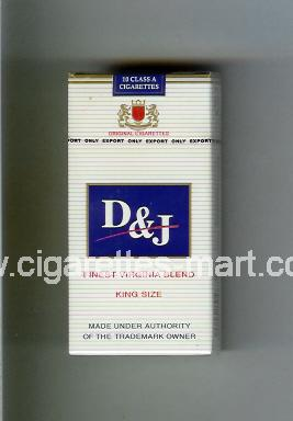 D&J (design 1) (Finest Virginia Blend) ( hard box cigarettes )