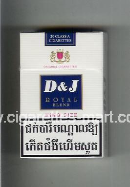 D&J (design 2) (Royal / Blend) ( hard box cigarettes )
