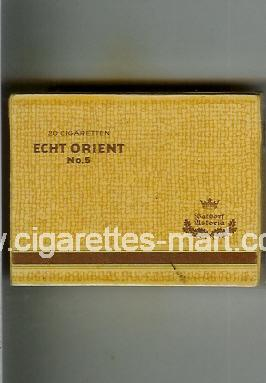 Echt Orient (No 5) (yellow & brown) ( box cigarettes )