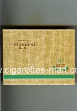 Echt Orient (No 5) (yellow & green) ( box cigarettes )