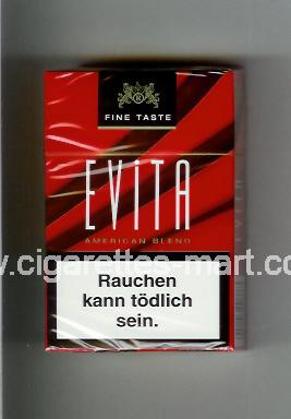Evita (german version) (Fine Taste / American Blend) ( hard box cigarettes )