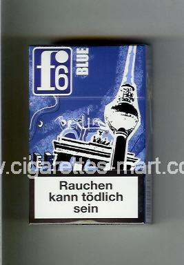 F 6 (german version) (collection design 1A) (Berlin / Blue) ( hard box cigarettes )