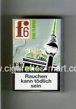 F 6 (german version) (collection design 1A) (Berlin / Fine Flavor) ( hard box cigarettes )