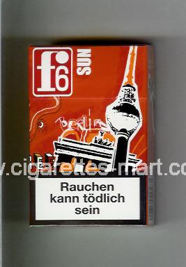 F 6 (german version) (collection design 1A) (Berlin / Sun) ( hard box cigarettes )