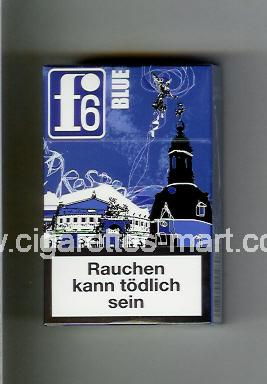 F 6 (german version) (collection design 1B) (Dresden / Blue) ( hard box cigarettes )