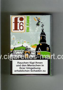 F 6 (german version) (collection design 1B) (Dresden / Fine Flavor) ( hard box cigarettes )