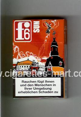 F 6 (german version) (collection design 1B) (Dresden / Sun) ( hard box cigarettes )