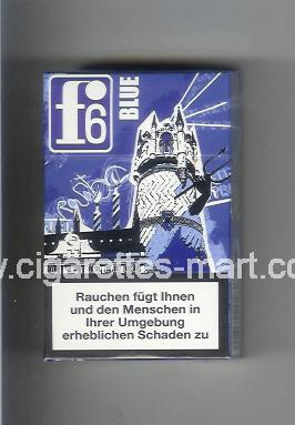 F 6 (german version) (collection design 1C) (Rostock / Blue) ( hard box cigarettes )