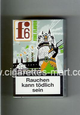F 6 (german version) (collection design 1C) (Rostock / Fine Flavor) ( hard box cigarettes )