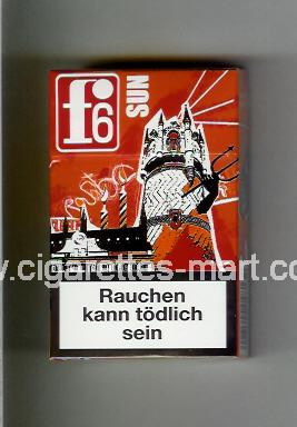 F 6 (german version) (collection design 1C) (Rostock / Sun /) ( hard box cigarettes )