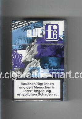 F 6 (german version) (collection design 2A) (Blue) ( hard box cigarettes )