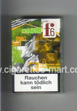 F 6 (german version) (collection design 2A) (Fine Flavor) ( hard box cigarettes )