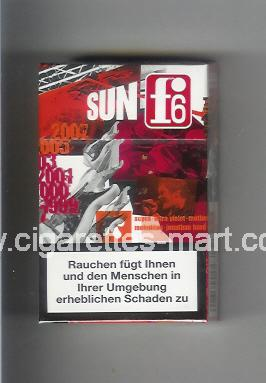 F 6 (german version) (collection design 2A) (Sun) ( hard box cigarettes )