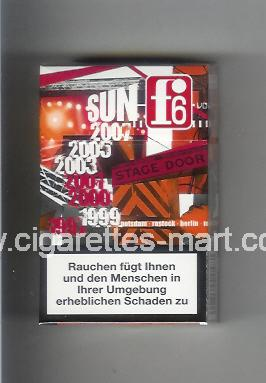 F 6 (german version) (collection design 2B) (Sun) ( hard box cigarettes )