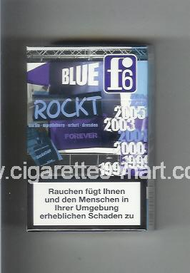 F 6 (german version) (collection design 2C) (Blue) ( hard box cigarettes )