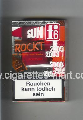 F 6 (german version) (collection design 2C) (Sun) ( hard box cigarettes )