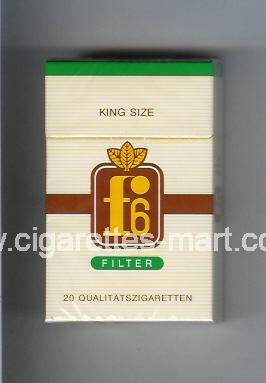 F 6 (german version) (design 1) (Filter) ( hard box cigarettes )