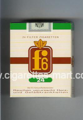 F 6 (german version) (design 1) (Filter) ( soft box cigarettes )