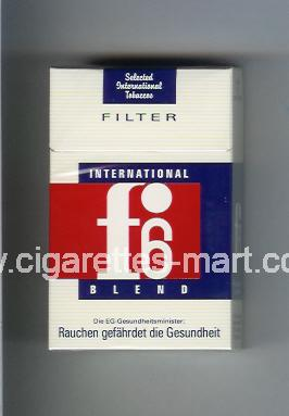 F 6 (german version) (design 2) (International Blend / Filter) ( hard box cigarettes )
