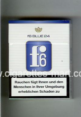 F 6 (german version) (design 3) (Blue) ( hard box cigarettes )