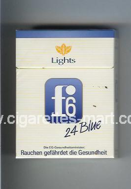 F 6 (german version) (design 3) (Blue / Lights) ( hard box cigarettes )