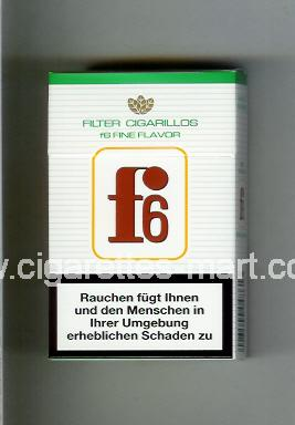 F 6 (german version) (design 3) (Filter Cigarillos / Fine Flavor) ( hard box cigarettes )
