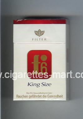 F 6 (german version) (design 3) (Filter / King Size) ( hard box cigarettes )