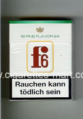 F 6 (german version) (design 3) (Fine Flavor) ( hard box cigarettes )
