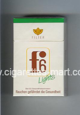 F 6 (german version) (design 3) (Lights / Filter) ( hard box cigarettes )