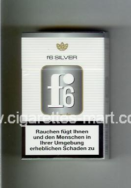 F 6 (german version) (design 3) (Silver) ( hard box cigarettes )