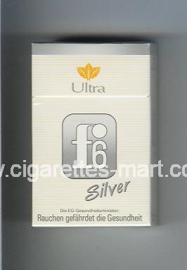 F 6 (german version) (design 3) (Silver / Ultra) ( hard box cigarettes )