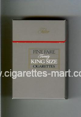 Fine Fare (King Size / Twenty / Filter) ( hard box cigarettes )