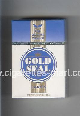Gold Seal (design 1) Lights ( hard box cigarettes )