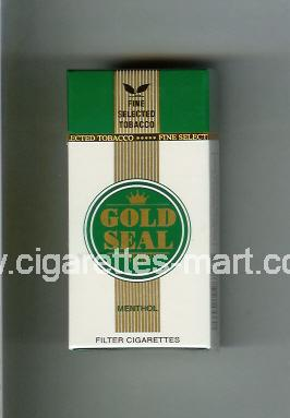 Gold Seal (design 1) Menthol ( hard box cigarettes )