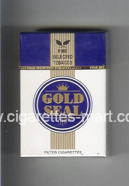 Gold Seal (design 1) (white & blue) ( hard box cigarettes )