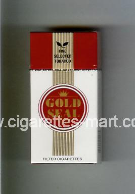 Gold Seal (design 1) (white & red & gold) ( hard box cigarettes )