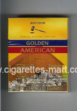 Golden American (german version) (collection design 1A) (Auctuion) ( hard box cigarettes )