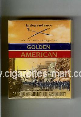 Golden American (german version) (collection design 1F) (Independence) ( hard box cigarettes )