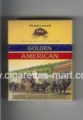Golden American (german version) (collection design 1H) (Stagecoach) ( hard box cigarettes )