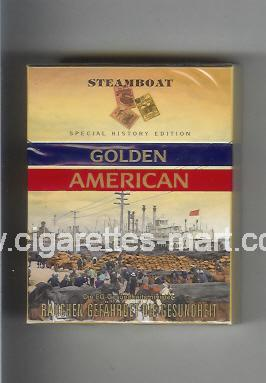 Golden American (german version) (collection design 1I) (Steamboat) ( hard box cigarettes )