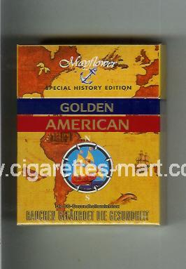 Golden American (german version) (collection design 1K) (Mayflower) ( hard box cigarettes )