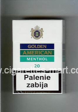 Golden American (german version) (design 2) (Menthol) ( hard box cigarettes )