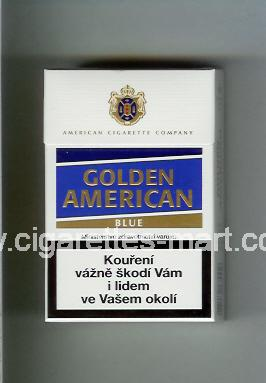 Golden American (german version) (design 3) (Blue) ( hard box cigarettes )