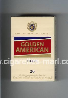 Golden American (german version) (design 3) (Filter) ( hard box cigarettes )